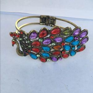 Acrylic Stone Peacock Fashion Bracelet Clamp